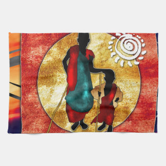 Africa retro vintage style gifts towel