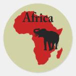 Africa Round Stickers