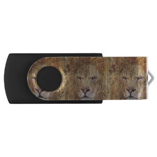 Africa safari animal wildlife majestic lion USB flash drive