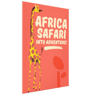 Africa Safari Into Adventure! Canvas Print