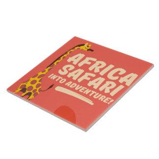 Africa Safari Into Adventure! Tile