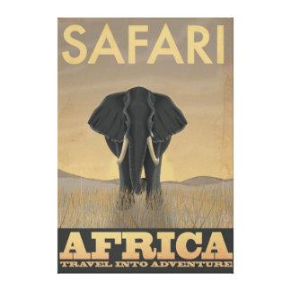 Africa Safari vintage travel poster Canvas Print