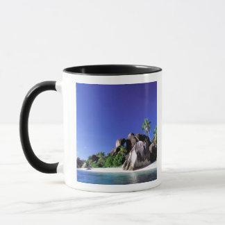 Africa, Seychelles, La Digue Island. Granite 3 Mug