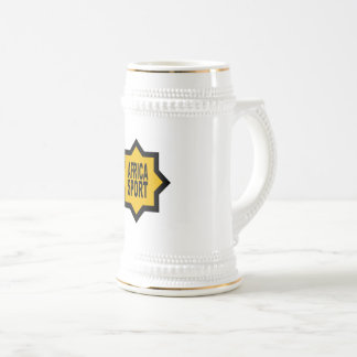 AFRICA SPORT CATCHES BEER STEIN