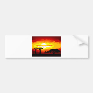 Africa sunset bumper sticker