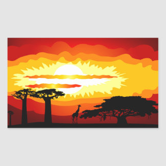 Africa sunset sticker