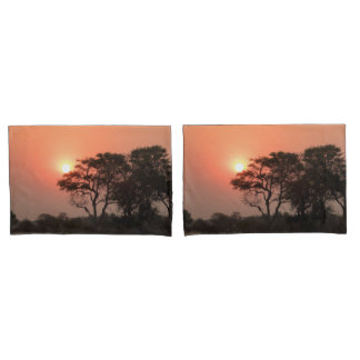 Africa Sunset Trees Nature Landscapes Skies Pillowcase