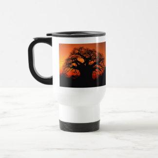 Africa Sunset Trees Nature Landscapes Skies Travel Mug