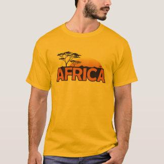 Africa sunset with orange setting sun T-Shirt