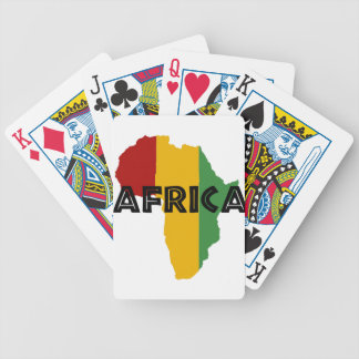 Africa take a rest cokes bicycle playing cards