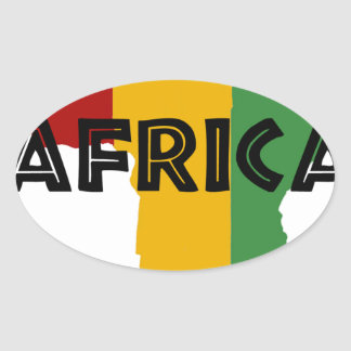 Africa take a rest cokes oval sticker