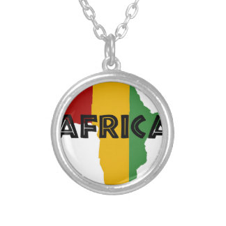 Africa take a rest cokes silver plated necklace