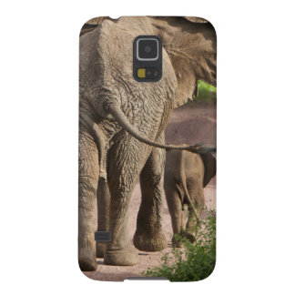 Africa. Tanzania. Elephant mother and calf at Cases For Galaxy S5