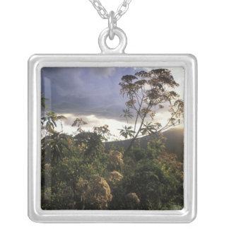 Africa, Tanzania, Ngorongoro Conservation Area, Square Pendant Necklace