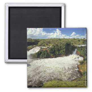 Africa, Uganda, Murchison Falls NP. The frothy Square Magnet