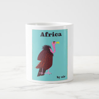 Africa Vulture vintage air travel poster Large Coffee Mug