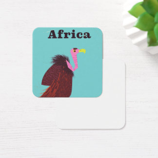 Africa Vulture vintage air travel poster Square Business Card
