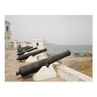 Africa, West Africa, Ghana, Elmina. Canons gaurd Postcard