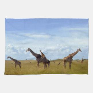 Africa wild Savannah Giraffe  Kitchen Towel