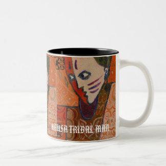 african1, african1, african1, FACEOFOMSMSIU, FA... Two-Tone Coffee Mug