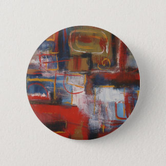 African Abstract Art - Squares & Circles 2 Inch Round Button