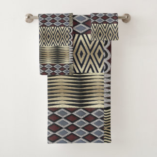 African  Abstract Pattern Bath Towel Set