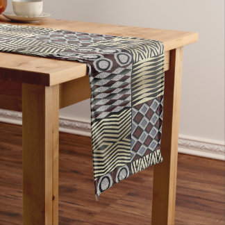 African  Abstract Pattern Short Table Runner