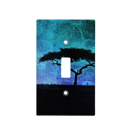 African Acacia Tree Light Switch Plate