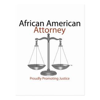 African America Attorney Postcard