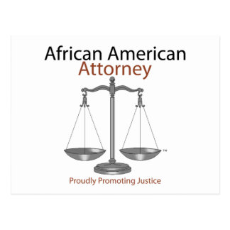 African America Attorney Postcard