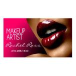 African America Big Glossy Lips | fuschia Business Card