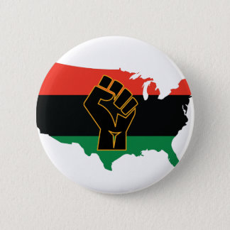 African American  2 Inch Round Button