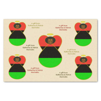 African American Angel Flag Tissue Paper