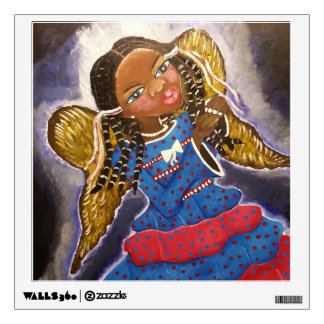 African American angel wall decal