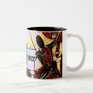 """African American art"" ""jazz band mug"