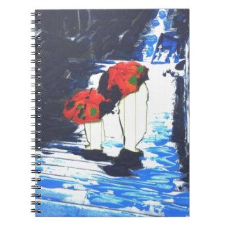 African American art umbrella sisters notebook