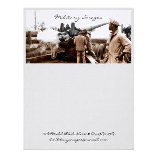 African American Artillerymen Letterhead Design