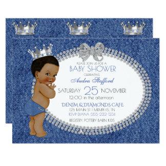 African American Baby Boy Denim & Diamonds Card