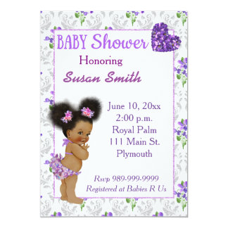 African American Baby Shower Invitations & Announcements ...