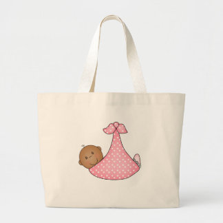 African American Baby Girl Large Tote Bag