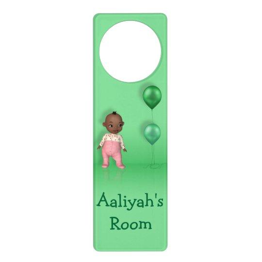 African American Baby Girl Name This - Door Hanger