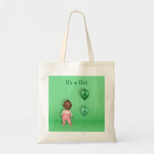 African American Baby - It's a Girl Budget Tote