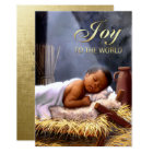 African American Baby Jesus Flat Christmas Cards