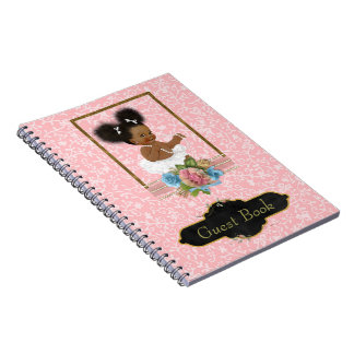 African American Baby Shower Guest Book