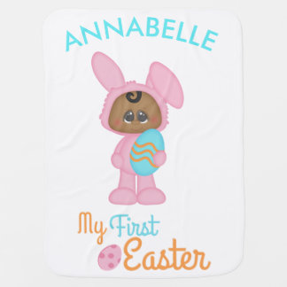 African American Baby's First Easter Baby Blanket