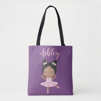 African American Ballerina Ballet Pink Tutu Dancer Tote Bag