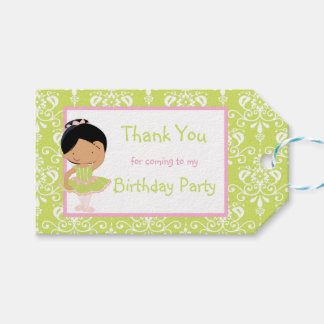 African American Ballerina 'Thank You' Gift Tag