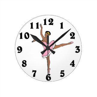 African American Ballerina Wall Clock