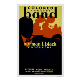 African American Band 1936 WPA Poster
