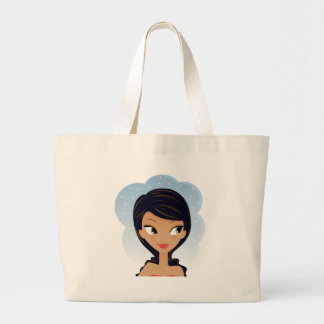 African American beauty Large Tote Bag